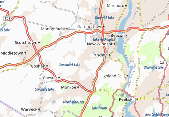 Mapas-Planos Washingtonville