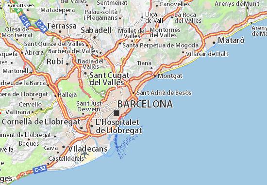 Carte-Plan Sant Adrià de Besòs