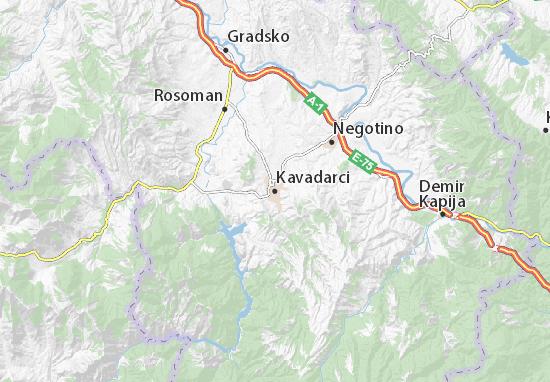 Kaart Plattegrond Kavadarci