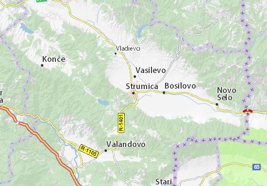 Strumica Map
