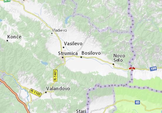 Kaart Plattegrond Bosilovo