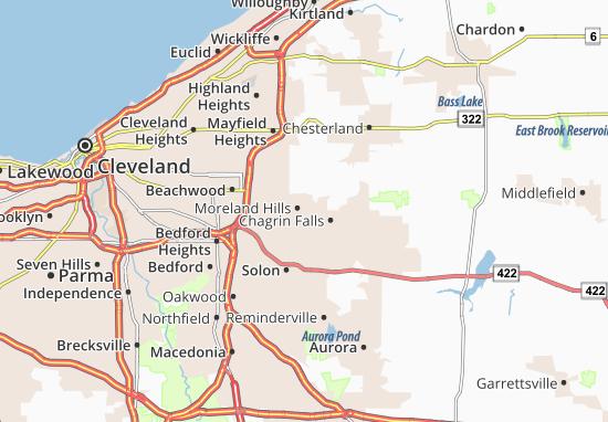 Moreland Hills Map