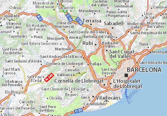 Mapas-Planos Sant Andreu de la Barca