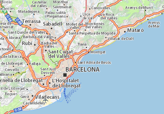 Mapas-Planos Badalona
