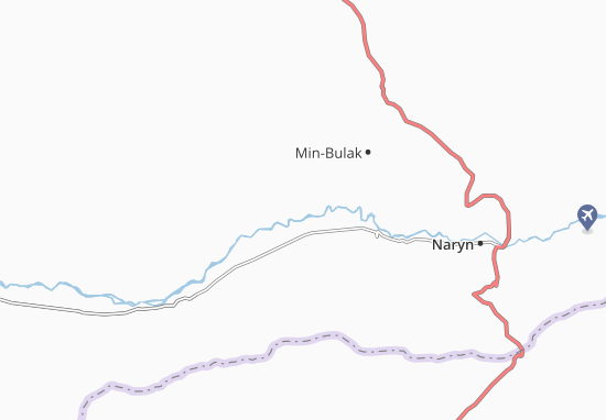 Mapa Plano Dzhuan-Bulak