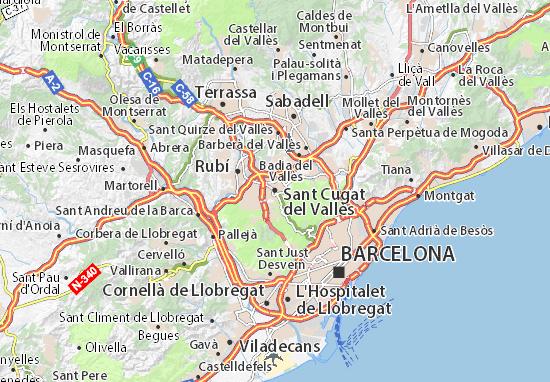 Sant Cugat del Vallès Map