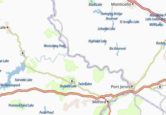 Kaart Plattegrond Shohola