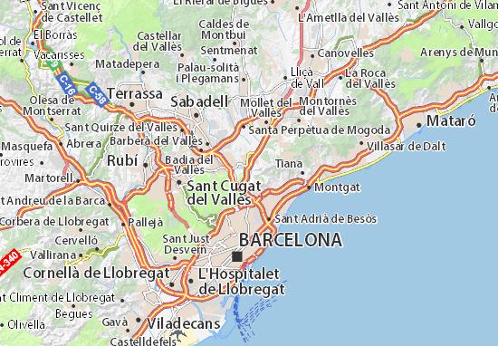 Kaart Plattegrond Montcada