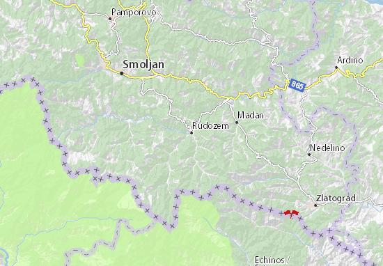 Rudozem Map