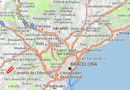 Karte Stadtplan Cerdanyola del Vallès