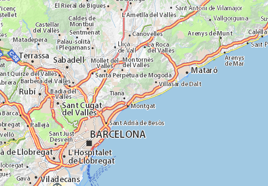 Mapa Plano Alella