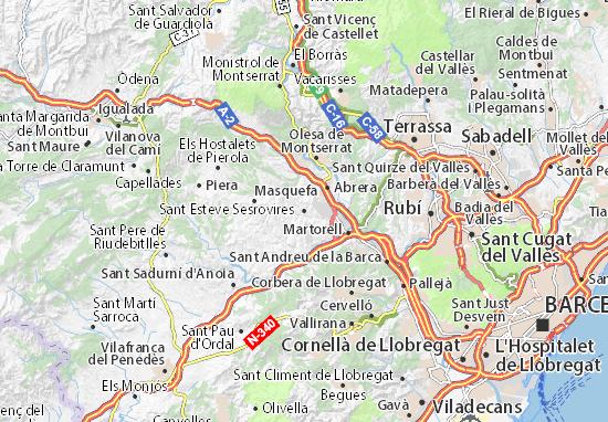 Mapas-Planos Sant Esteve Sesrovires