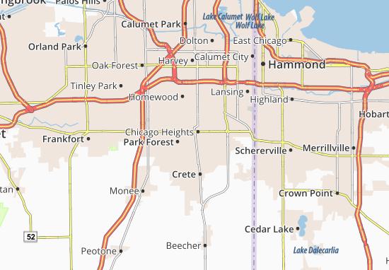 Carte-Plan Chicago Heights