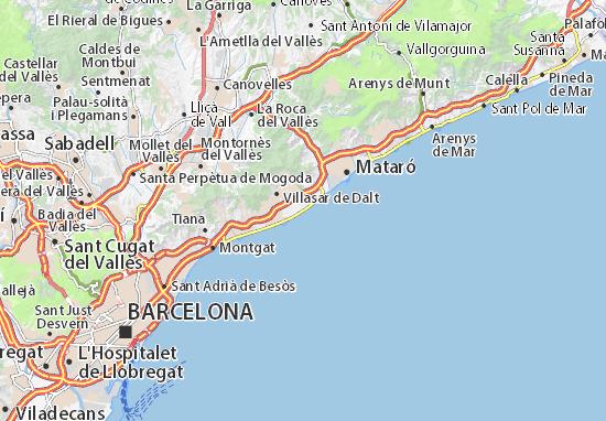 Vilassar de Mar Map