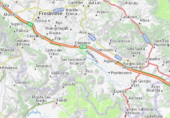 Frosinone Italy Map.San Giovanni Incarico Map Detailed Maps For The City Of San