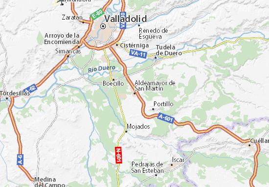 Mapas-Planos Aldeamayor de San Martín