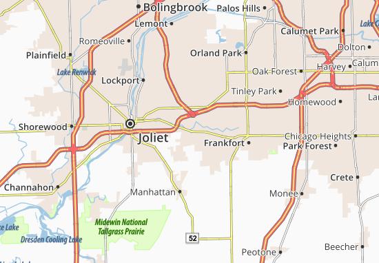 Map Of New Lenox Michelin New Lenox Map ViaMichelin - Joliet map