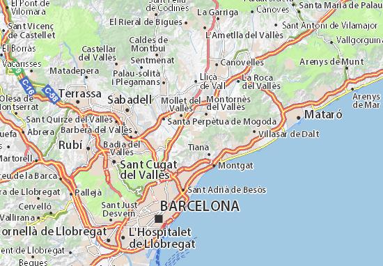 mapa sant fost de campsentelles plano sant fost de