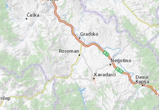 Kaart Plattegrond Rosoman