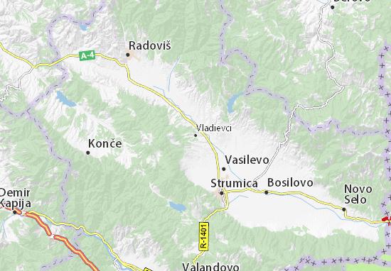 Kaart Plattegrond Vladievci