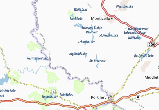 Mappe-Piantine Highland Lake