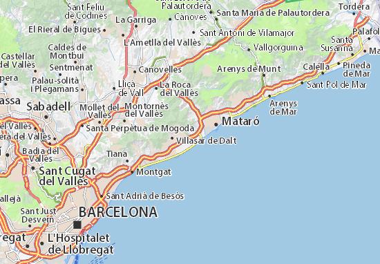 Mappe-Piantine Cabrera de Mar