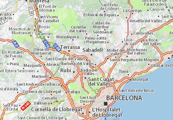 Mapa sant quirze del vall s plano sant quirze del vall s viamichelin - Mas duran sant quirze del valles ...