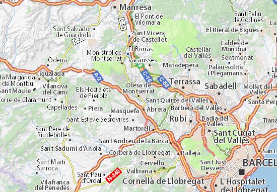 Kaart Plattegrond Olesa de Montserrat