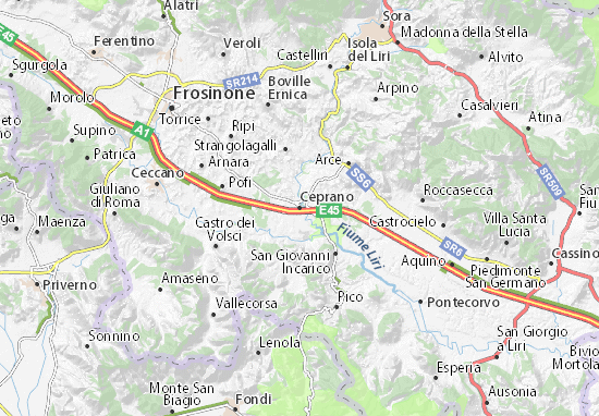 Kaart Plattegrond Ceprano