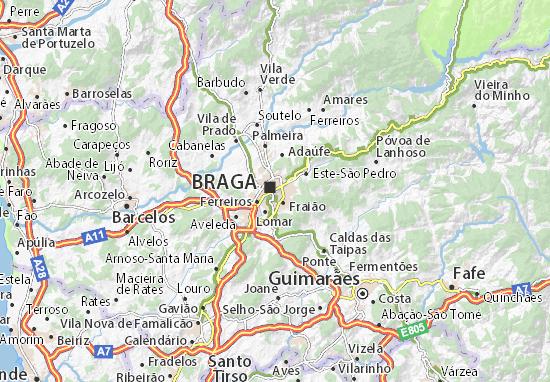 mapa de braga Mapa Braga São José de São Lázaro   plano Braga São José de São  mapa de braga