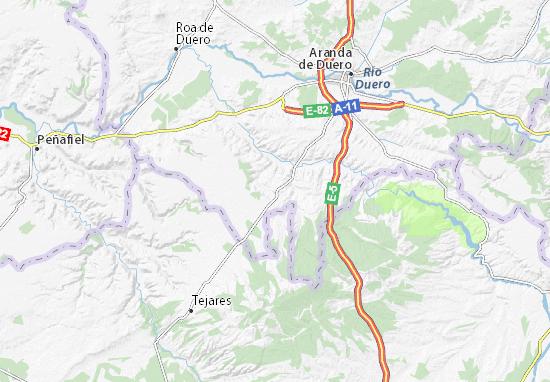Aranda Del Duero Mapa.Mapa Moradillo De Roa Plano Moradillo De Roa Viamichelin