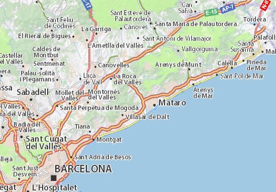 Karte Stadtplan Argentona