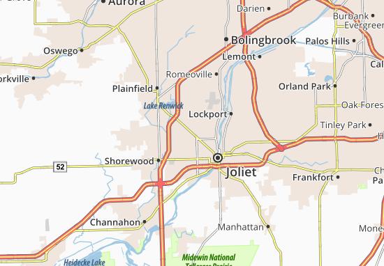 Map Of Crest Hill Michelin Crest Hill Map ViaMichelin - Joliet map