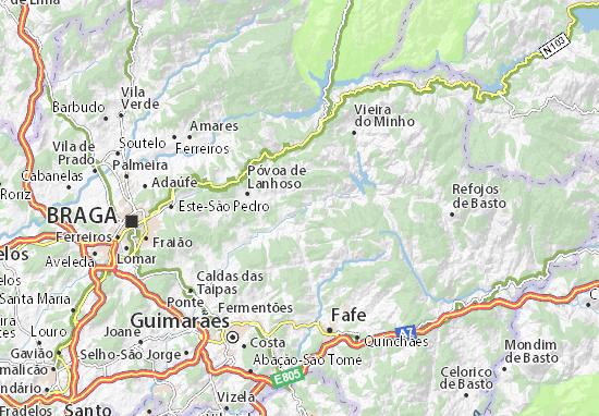 mapa estradas de portugal continental Mapa Estrada   plano Estrada  ViaMichelin mapa estradas de portugal continental