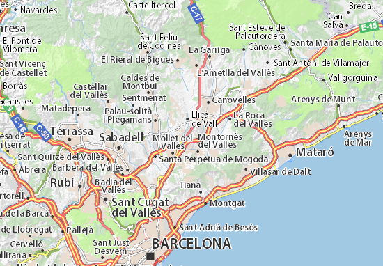 Carte Detaillee Circuit De Barcelone Plan Circuit De Barcelone Viamichelin