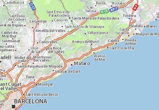 Carte-Plan Sant Andreu de Llavaneres