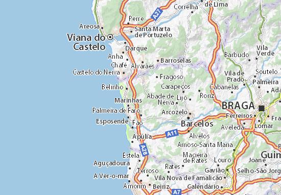 Vila Chã Map