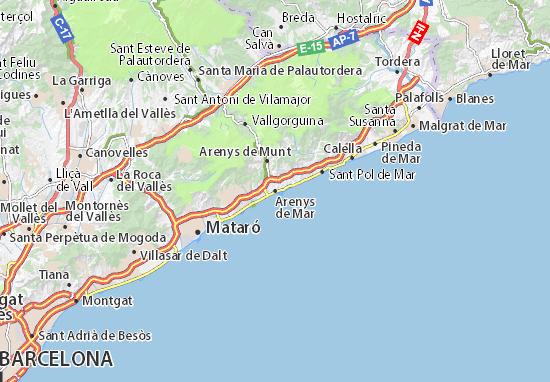 Arenys de Mar Map