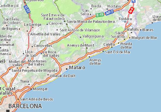 Mappe-Piantine Sant Vicenç de Montalt