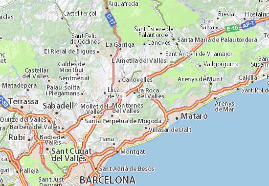 Mapas-Planos La Roca del Vallès