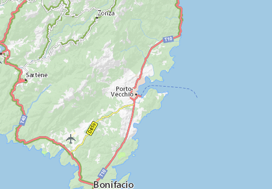 Carte Corse Porto Ota.Map Of Porto Vecchio Michelin Porto Vecchio Map Viamichelin