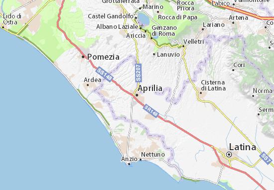 Carte-Plan Aprilia