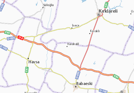 Karahalil Map