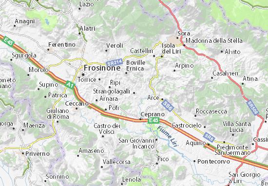Strangolagalli Map