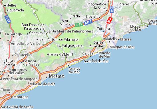 Mapa Plano Sant Cebrià de Vallalta