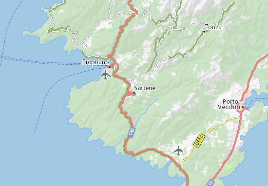 Sartène Map