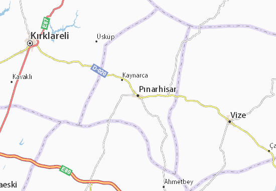 Kaart Plattegrond Pınarhisar
