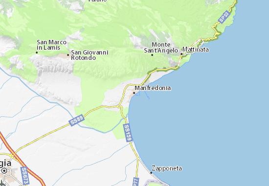 Mapas-Planos Manfredonia