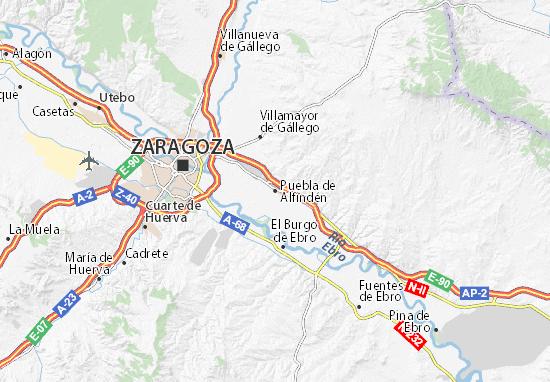 Mapas-Planos Puebla de Alfindén