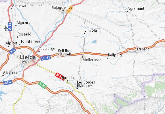 Mollerussa Map